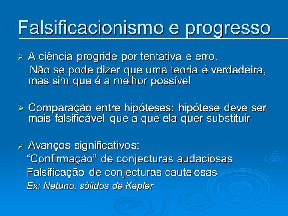 Falsificacionismo e progresso