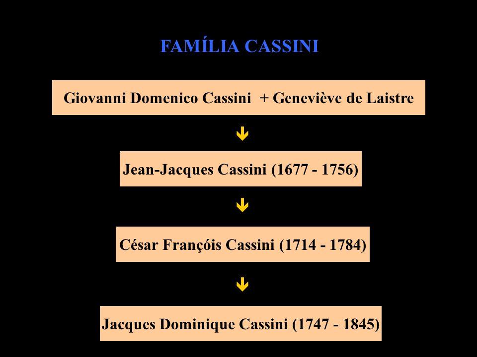 FAMÍLIA CASSINI Giovanni Domenico Cassini + Geneviève de Laistre 