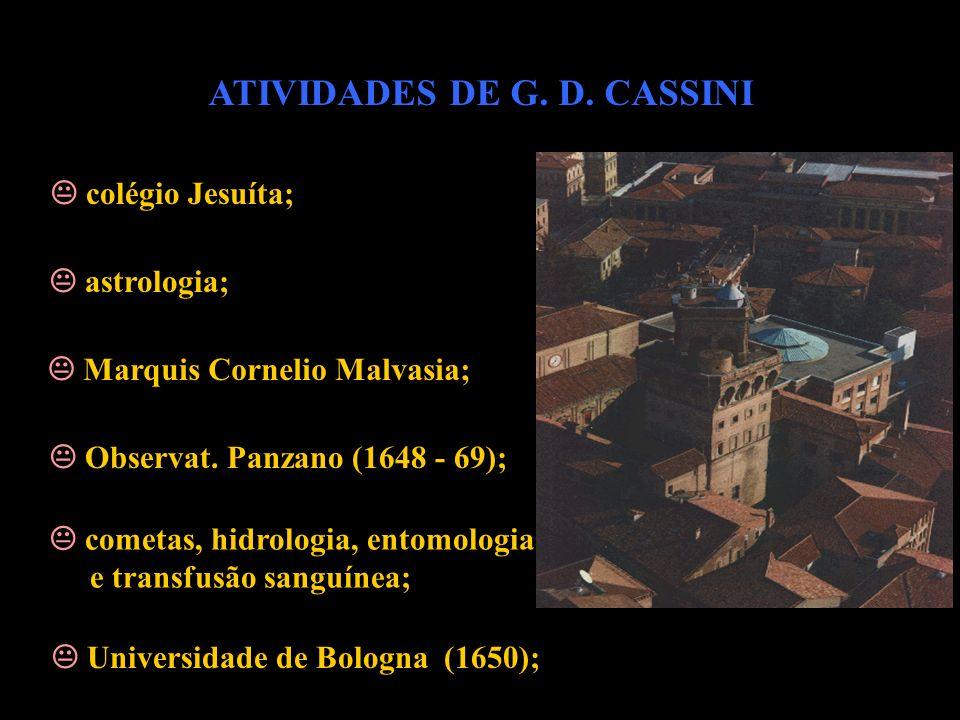ATIVIDADES DE G. D. CASSINI