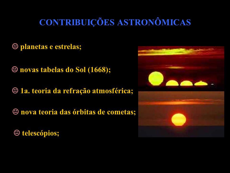 CONTRIBUIÇÕES ASTRONÔMICAS