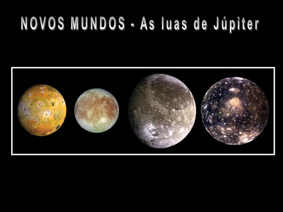 NOVOS MUNDOS - As luas de Júpiter