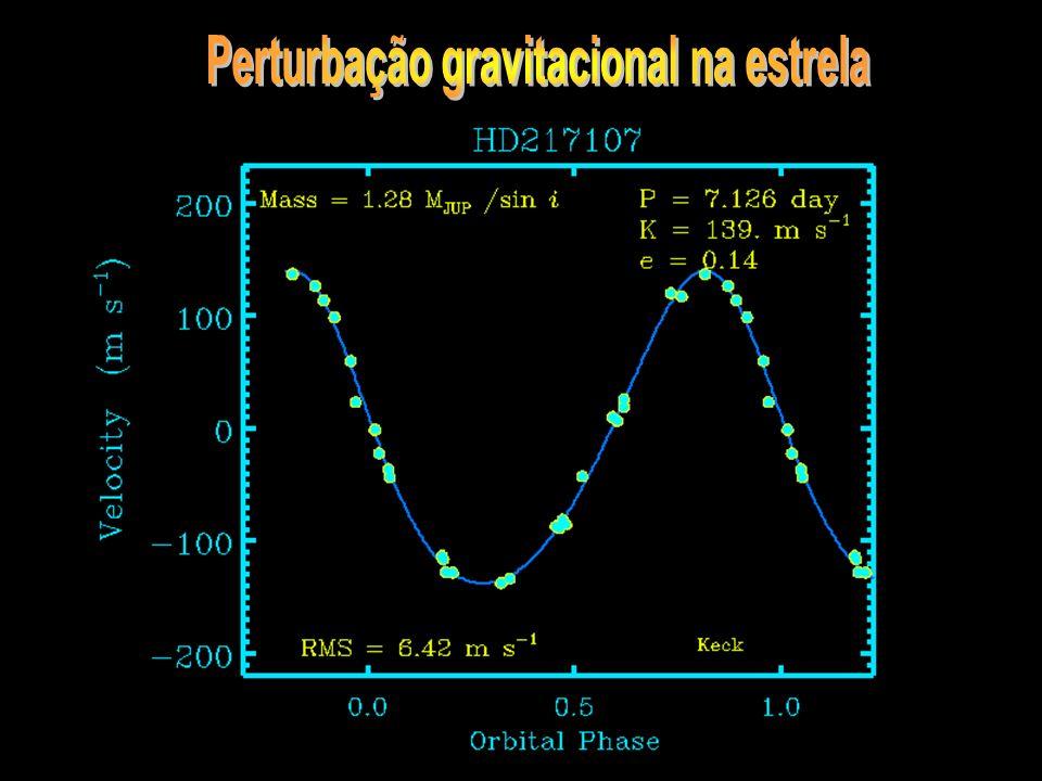 Perturbação gravitacional na estrela