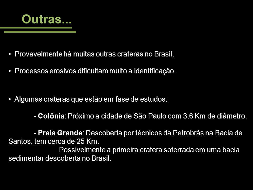 Outras... Provavelmente há muitas outras crateras no Brasil,