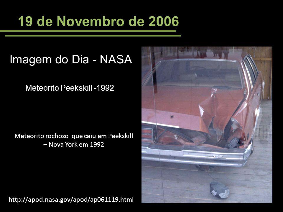 Meteorito rochoso que caiu em Peekskill – Nova York em 1992
