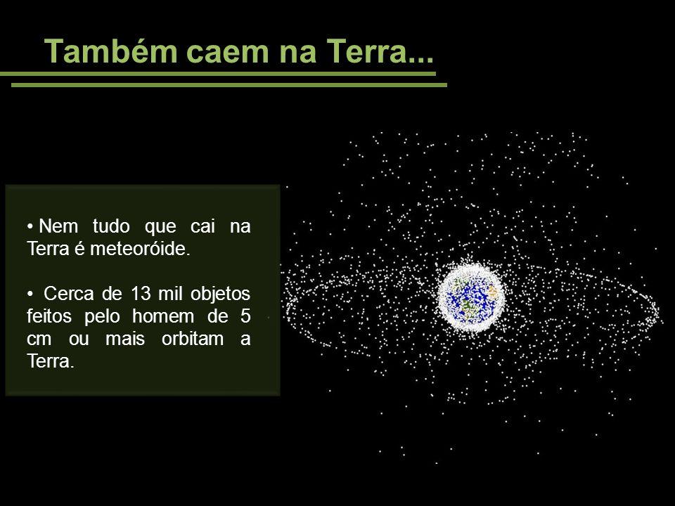 Também caem na Terra... Nem tudo que cai na Terra é meteoróide.