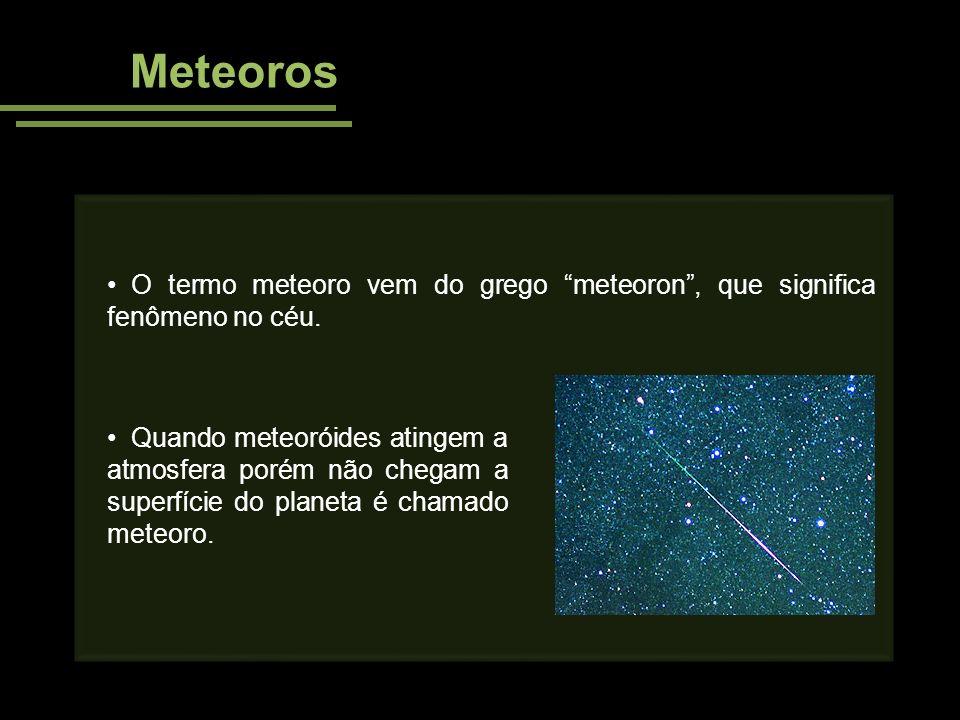 Meteoros O termo meteoro vem do grego meteoron , que significa fenômeno no céu.