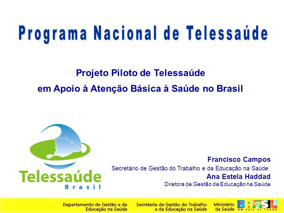 Programa Nacional de Telessaúde