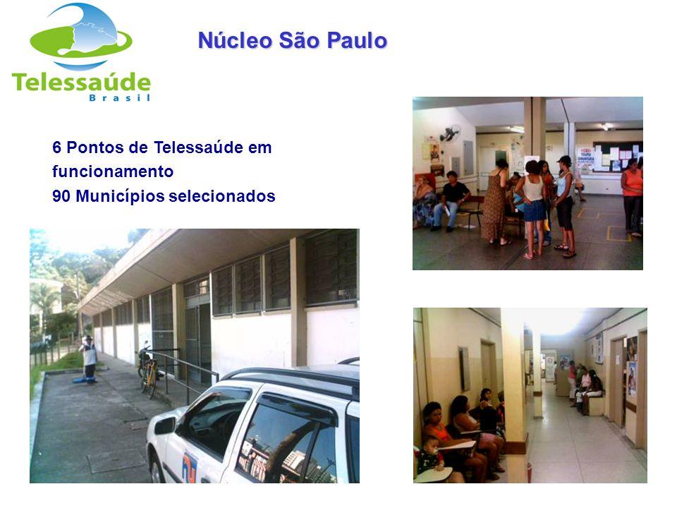 Núcleo São Paulo 6 Pontos de Telessaúde em funcionamento