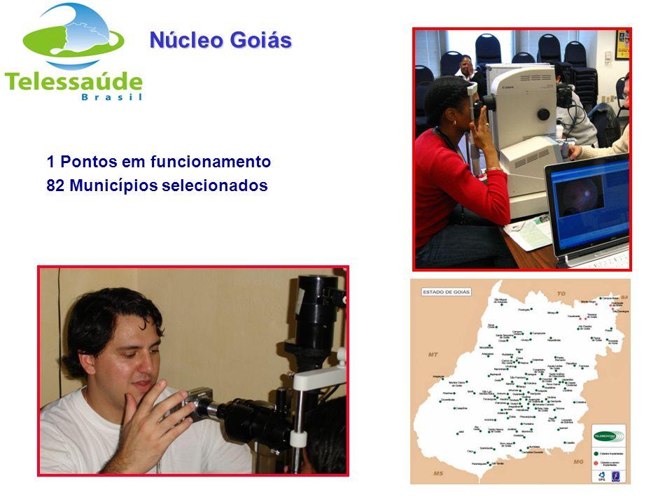 Núcleo Goiás 1 Pontos em funcionamento 82 Municípios selecionados 25