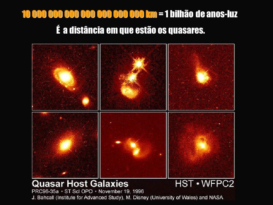 É a distância em que estão os quasares.