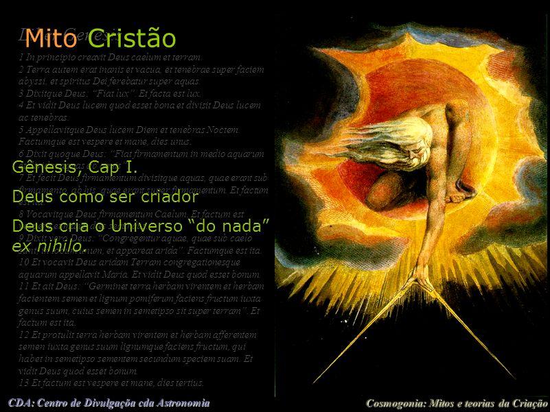 Mito Cristão Liber Genesis Gênesis, Cap I. Deus como ser criador