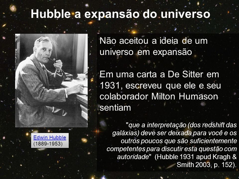 Hubble a expansão do universo