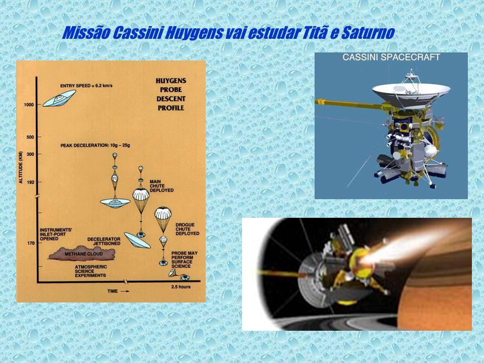 Missão Cassini Huygens vai estudar Titã e Saturno