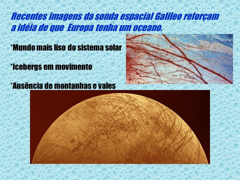 Recentes imagens da sonda espacial Galileo reforçam