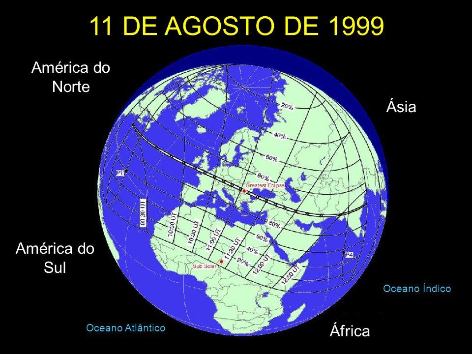 11 DE AGOSTO DE 1999 América do Norte Ásia América do Sul África