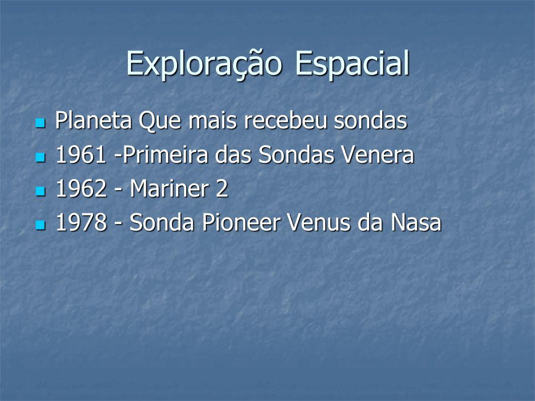 Exploração Espacial Planeta Que mais recebeu sondas