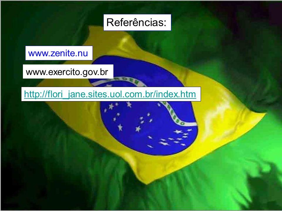 Referências: www.zenite.nu www.exercito.gov.br