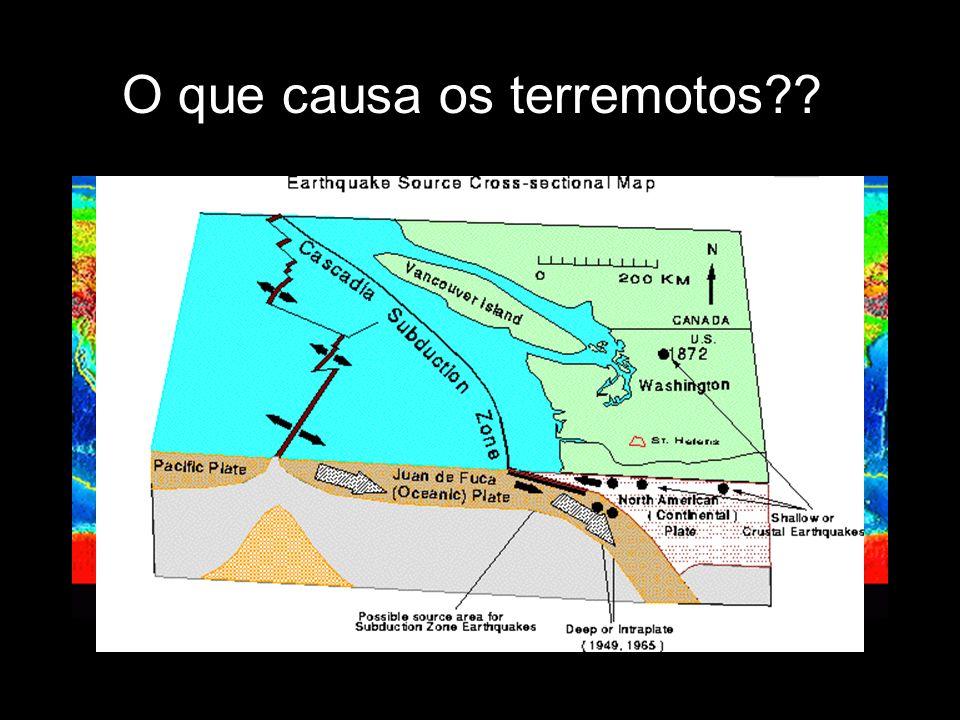 O que causa os terremotos