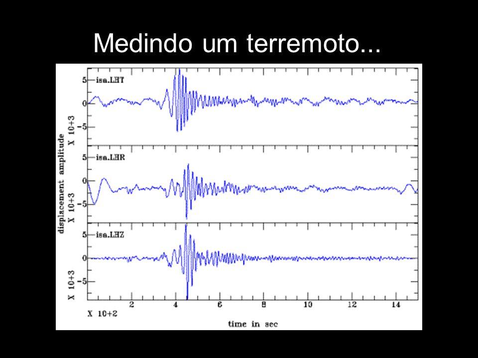 Medindo um terremoto... Escala Richter Escala Mercalli