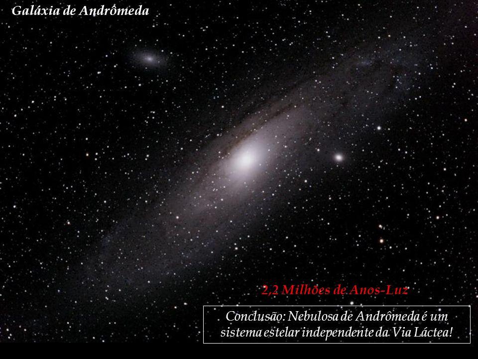 Galáxia de Andrômeda 2,2 Milhões de Anos-Luz.