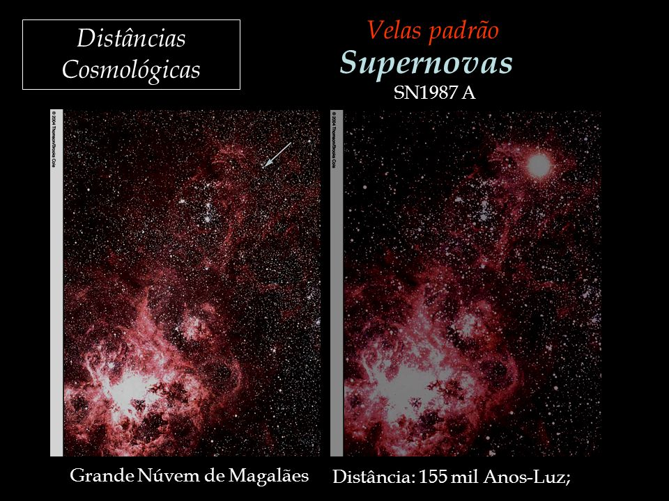 Supernovas Velas padrão Distâncias Cosmológicas SN1987 A