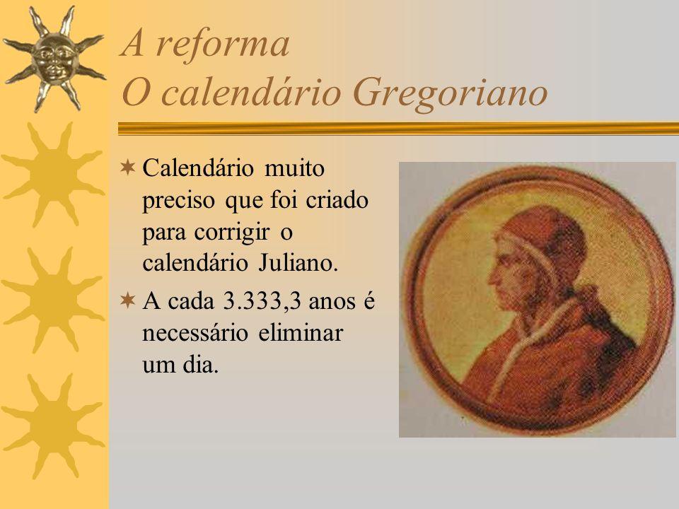 A reforma O calendário Gregoriano