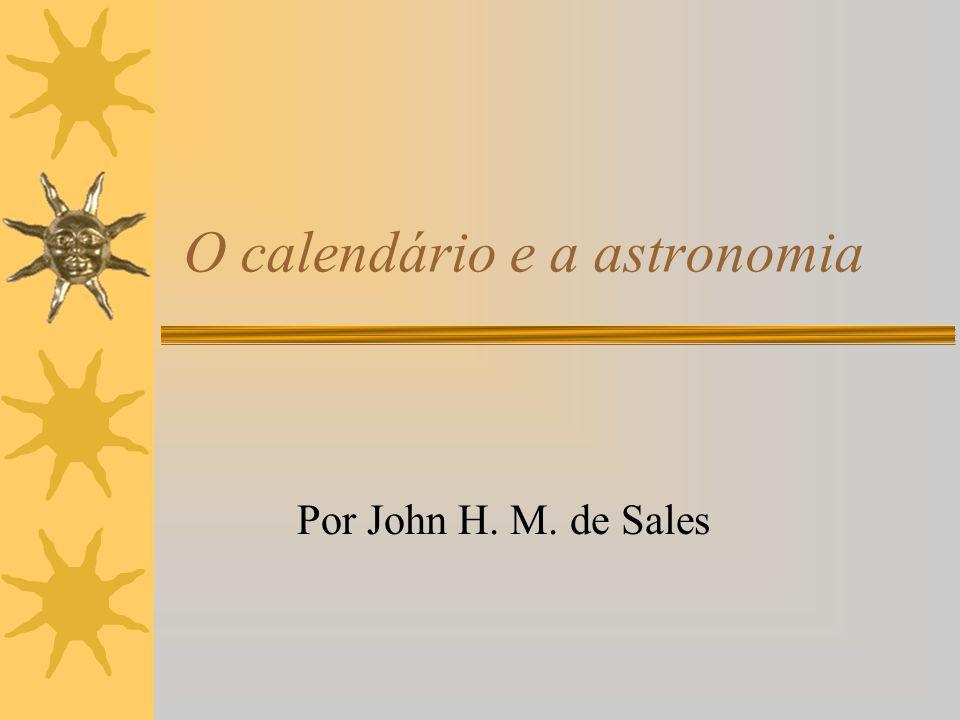 O calendário e a astronomia