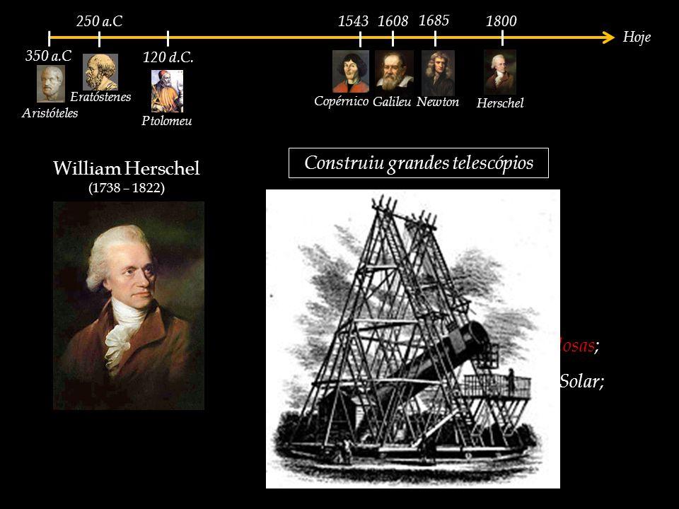 Construiu grandes telescópios