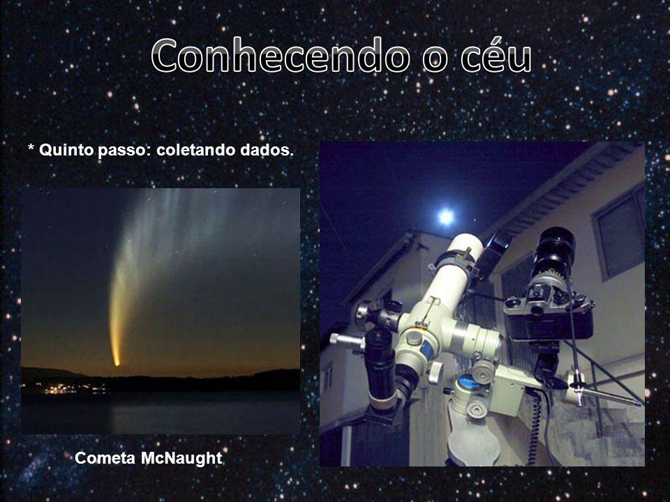 Conhecendo o céu * Quinto passo: coletando dados. Cometa McNaught
