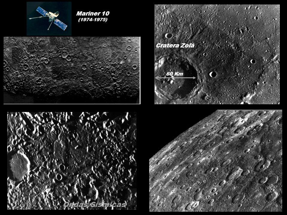 Mariner 10 (1974-1975) Cratera Zolá 60 Km Ondas Sísmicas