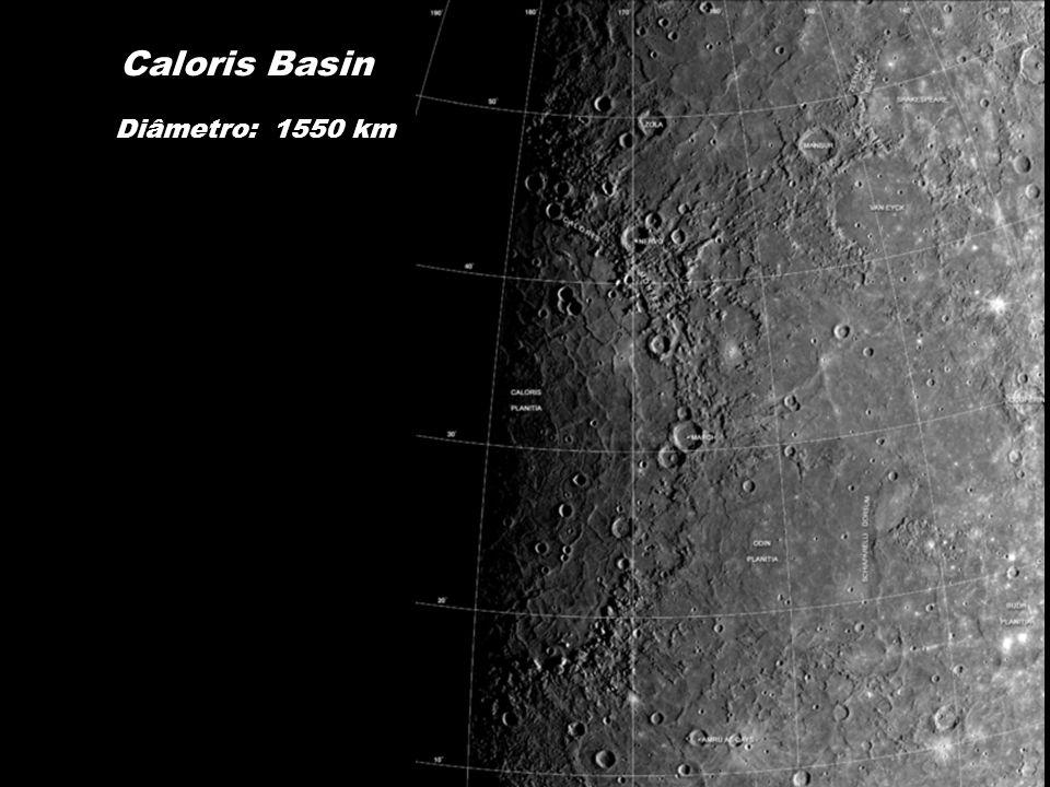 Caloris Basin Diâmetro: 1550 km