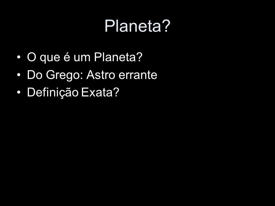 Planeta O que é um Planeta Do Grego: Astro errante Definição Exata