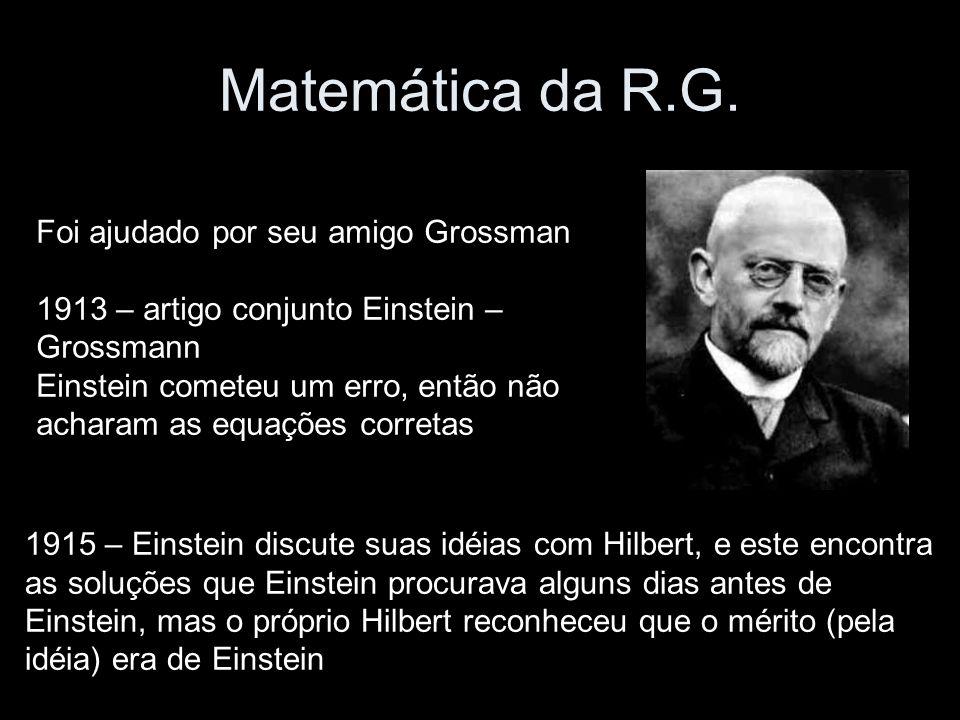 Matemática da R.G. Foi ajudado por seu amigo Grossman