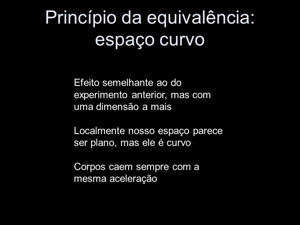 Princípio da equivalência: espaço curvo