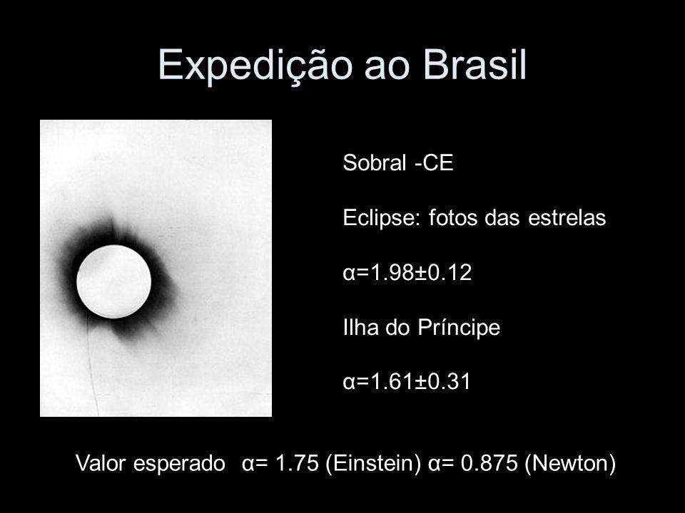 Expedição ao Brasil Sobral -CE Eclipse: fotos das estrelas α=1.98±0.12