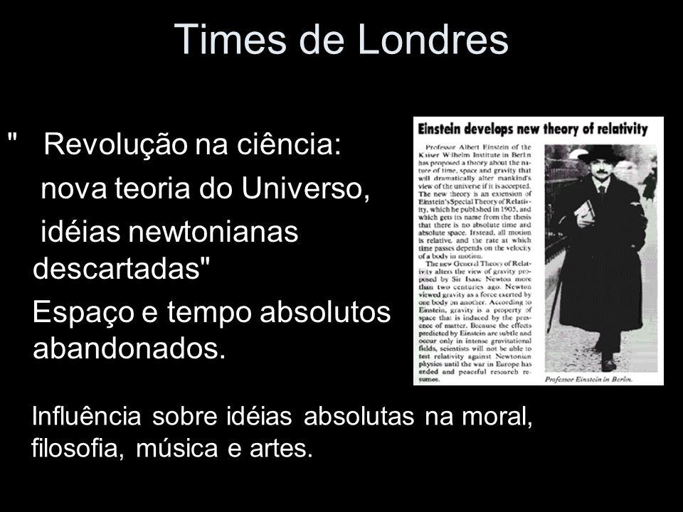 Times de Londres Revolução na ciência: nova teoria do Universo,