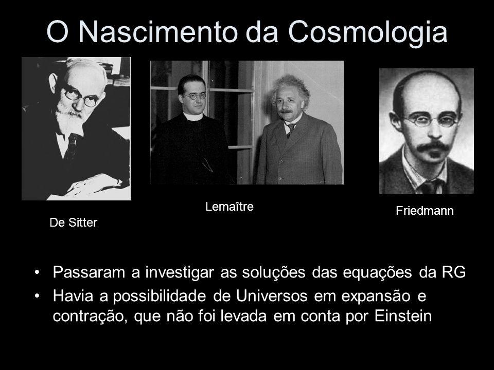 O Nascimento da Cosmologia