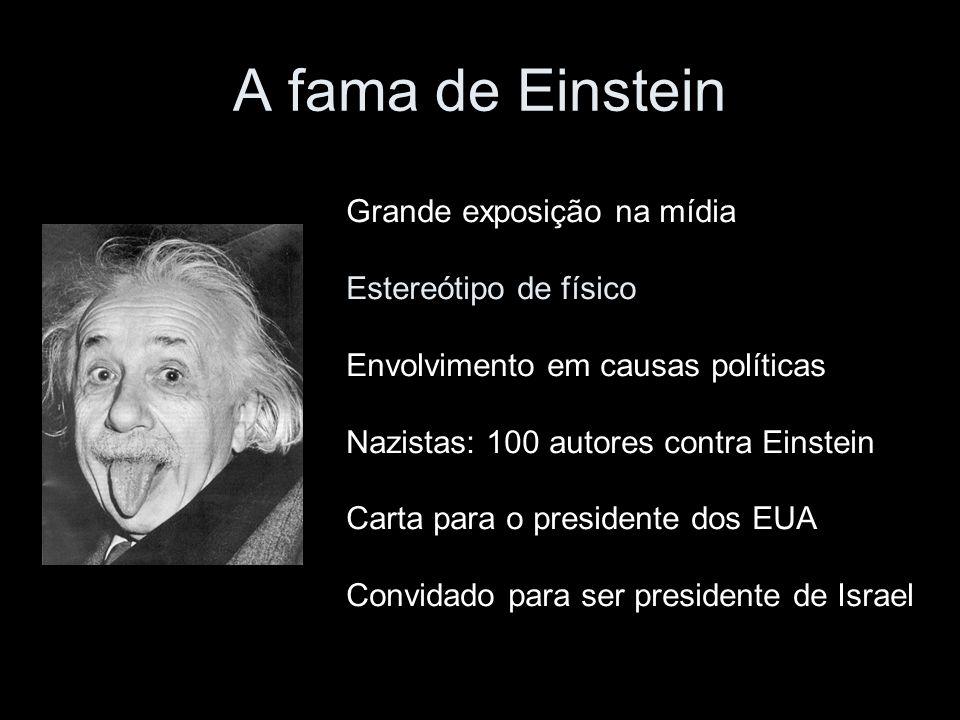 A fama de Einstein Grande exposição na mídia Estereótipo de físico