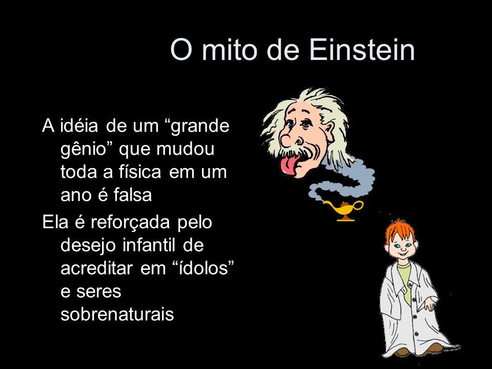 O mito de Einstein A idéia de um grande gênio que mudou toda a física em um ano é falsa.