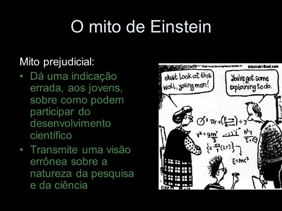 O mito de Einstein Mito prejudicial: