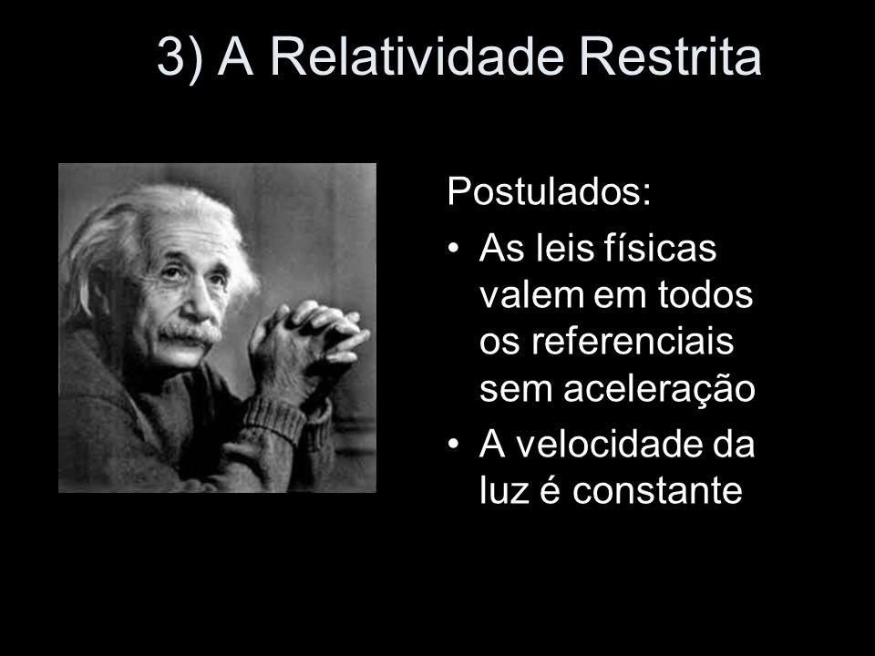 3) A Relatividade Restrita