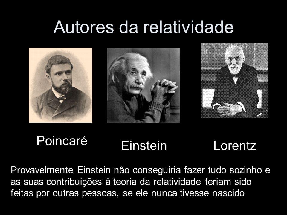Autores da relatividade