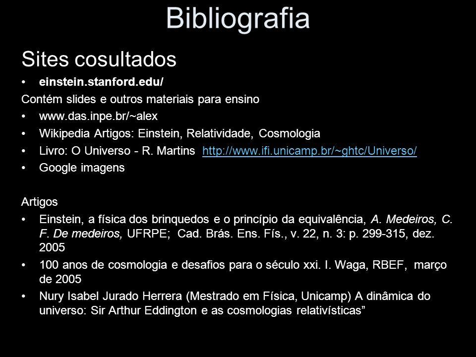 Bibliografia Sites cosultados einstein.stanford.edu/