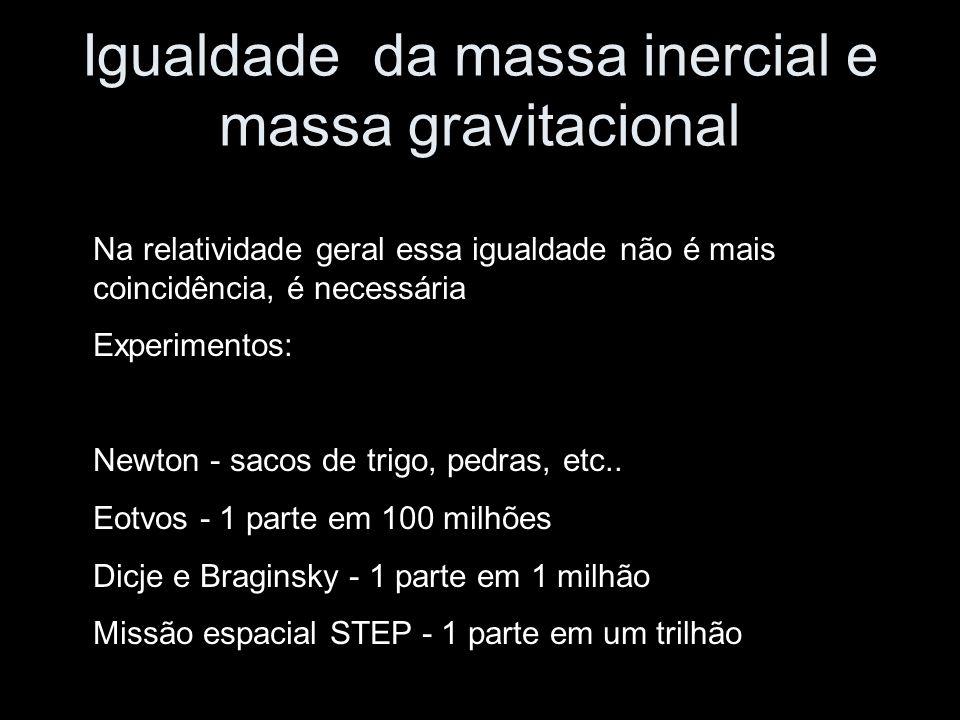 Igualdade da massa inercial e massa gravitacional
