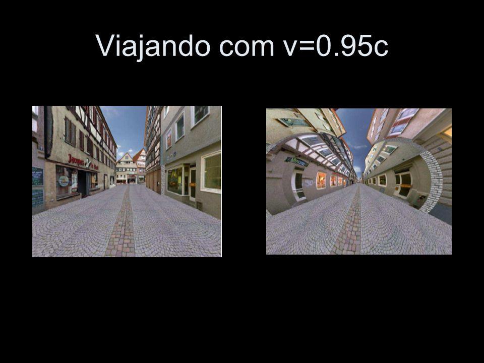 Viajando com v=0.95c http://www.tempolimit-lichtgeschwindigkeit.de/filme/tue2/tue2.mov