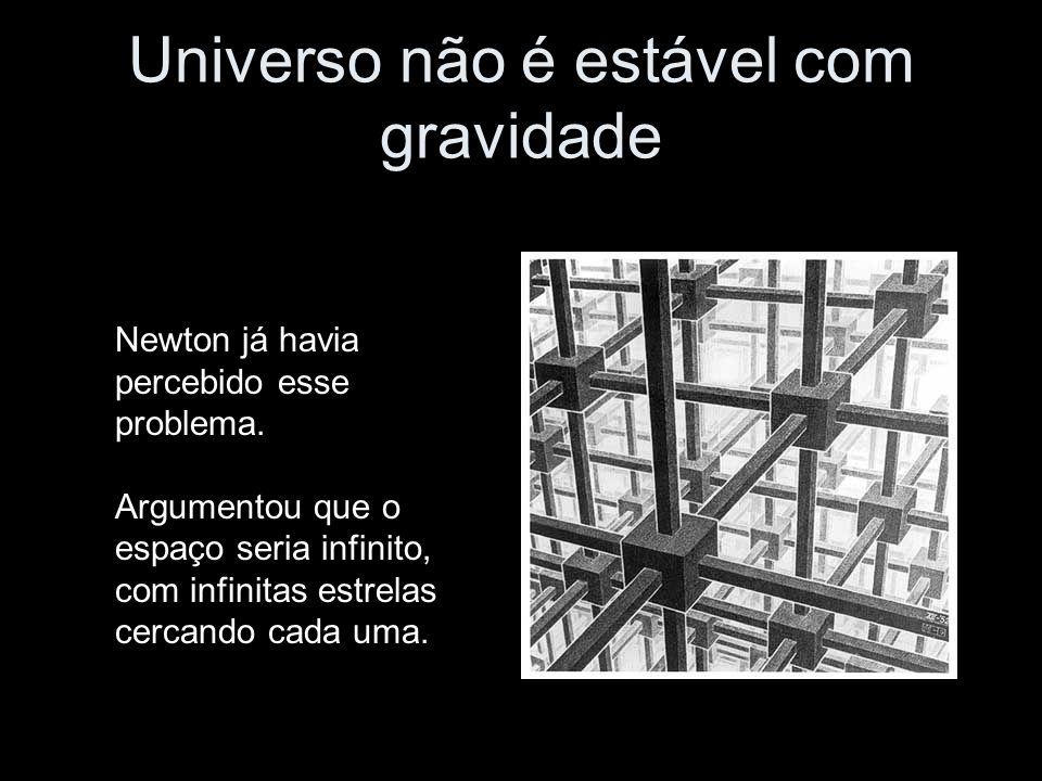 Universo não é estável com gravidade