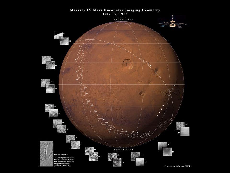 Regiões de Marte que a sonda Mariner 4 conseguiu obter imagens