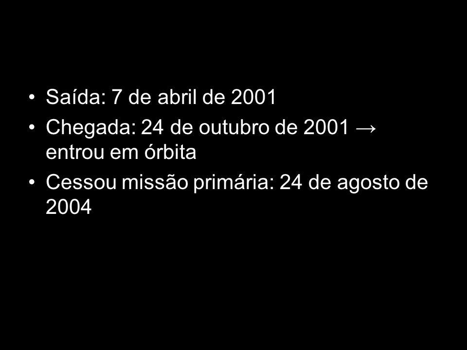 Saída: 7 de abril de 2001 Chegada: 24 de outubro de 2001 → entrou em órbita.
