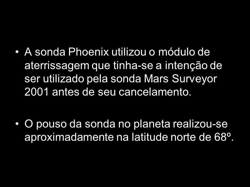 A sonda Phoenix utilizou o módulo de aterrissagem que tinha-se a intenção de ser utilizado pela sonda Mars Surveyor 2001 antes de seu cancelamento.