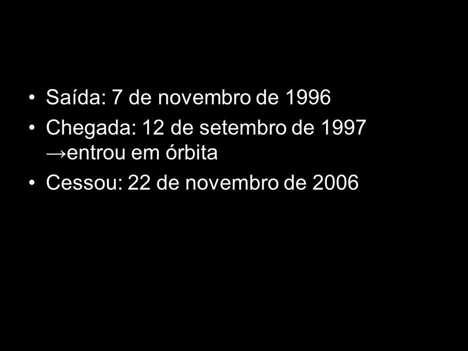 Saída: 7 de novembro de 1996 Chegada: 12 de setembro de 1997 →entrou em órbita.